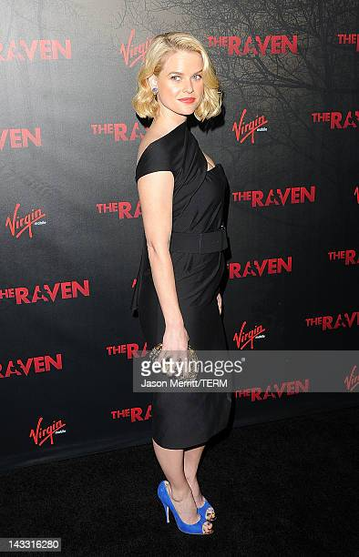 Actress Alice Eve arrives at the special screening of Relativity Media's The Raven on April 23 2012 in Los Angeles California