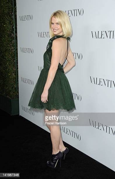 Actress Alice Eve arrives at the Valentino Rodeo Drive Flagship store opening on March 27 2012 in Beverly Hills California
