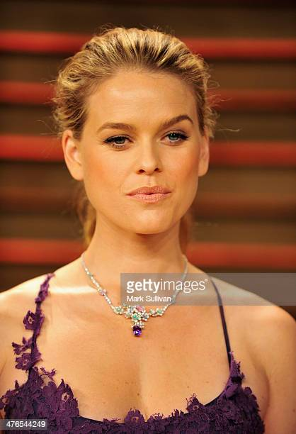 Actress Alice Eve arrives for the 2014 Vanity Fair Oscar Party hosted by Graydon Carter on March 2 2014 in West Hollywood California