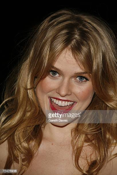 """Actress Alice Eve arrives for the premiere of """"Starter For 10"""" at the Coronet on November 6, 2006 in London, England."""