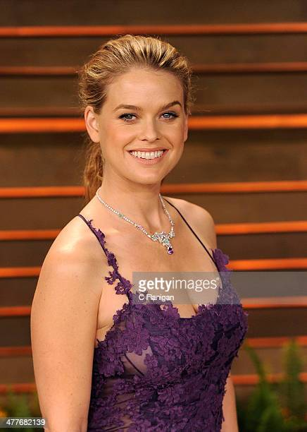 Actress Alice Eve arrives to the 2014 Vanity Fair Oscar Party on March 2 2014 in West Hollywood California
