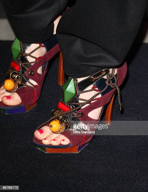 Actress Alice Eve attends dinner in honour of Frida Giannini, Gucci's creative director, hosted by Alexandra Shulman, editor of British Vogue, at...