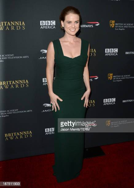 Actress Alice Eve attends the 2013 BAFTA LA Jaguar Britannia Awards presented by BBC America at The Beverly Hilton Hotel on November 9, 2013 in...