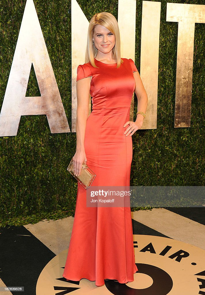 Actress Alice Eve attends the 2013 Vanity Fair Oscar party at Sunset Tower on February 24, 2013 in West Hollywood, California.