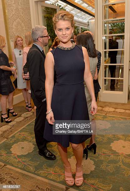 Actress Alice Eve attends the BAFTA LA 2014 Awards Season Tea Party at the Four Seasons Hotel Los Angeles at Beverly Hills on January 11 2014 in...