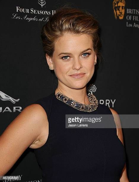 Actress Alice Eve attends the BAFTA LA 2014 awards season tea party at Four Seasons Hotel Los Angeles at Beverly Hills on January 11 2014 in Beverly...