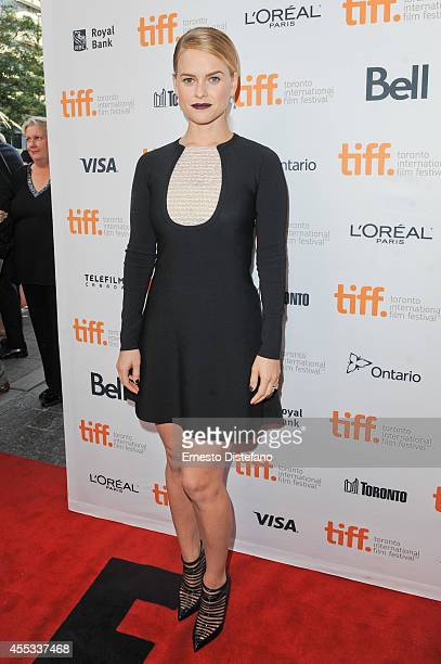 Actress Alice Eve attends the 'Before We Go' premiere at the Toronto International Film Festival at Princess of Wales Theatre on September 12 2014 in...