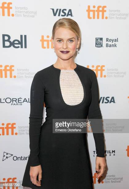 Actress Alice Eve attends the Before We Go premiere at the Toronto International Film Festival at Princess of Wales Theatre on September 12 2014 in...