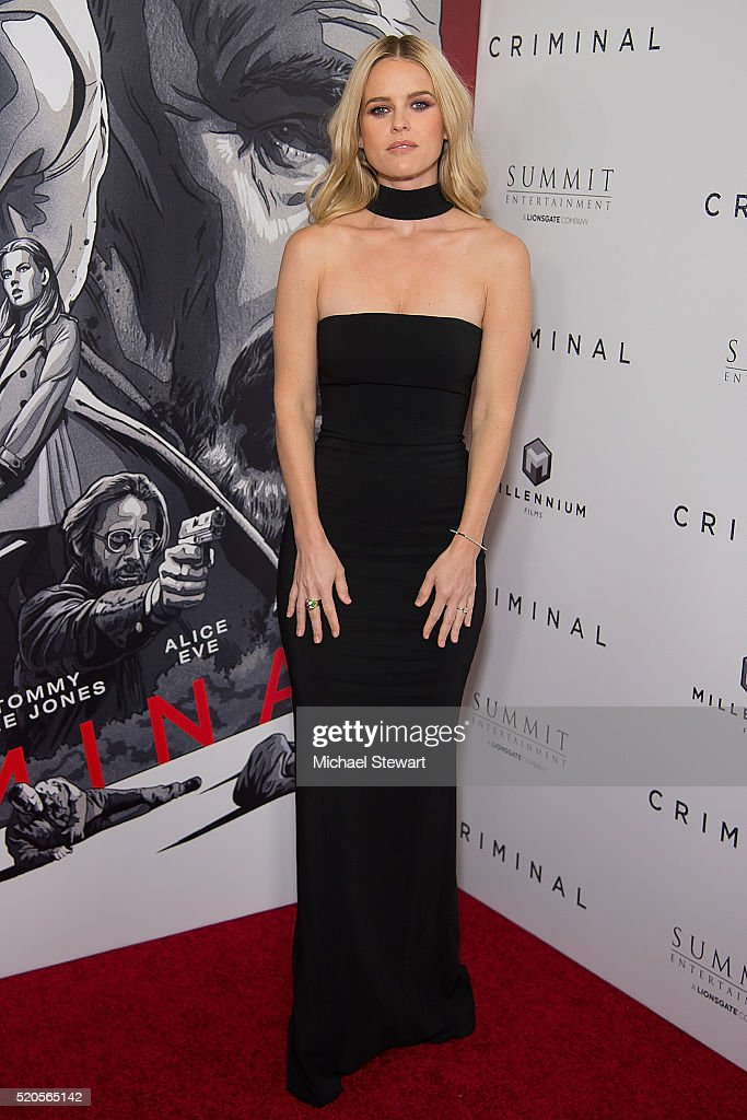 actress alice eve attends the 39 criminal 39 new york ppemiere at amc photo d 39 actualit getty. Black Bedroom Furniture Sets. Home Design Ideas