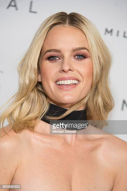 """Actress Alice Eve attends the """"Criminal"""" New York Ppemiere at AMC Loews Lincoln Square 13 theater on April 11, 2016 in New York City."""