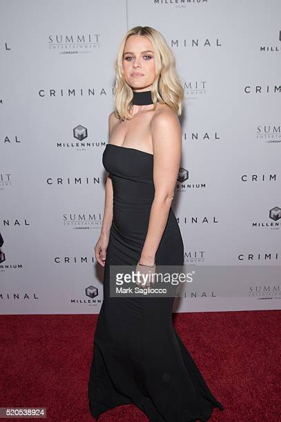 Actress Alice Eve attends the 'Criminal' New York Premiere at AMC Loews Lincoln Square 13 theater on April 11 2016 in New York City