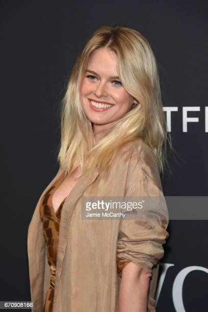 Actress Alice Eve attends the exclusive gala event 'For the Love of Cinema' during the Tribeca Film Festival hosted by luxury watch manufacturer IWC...