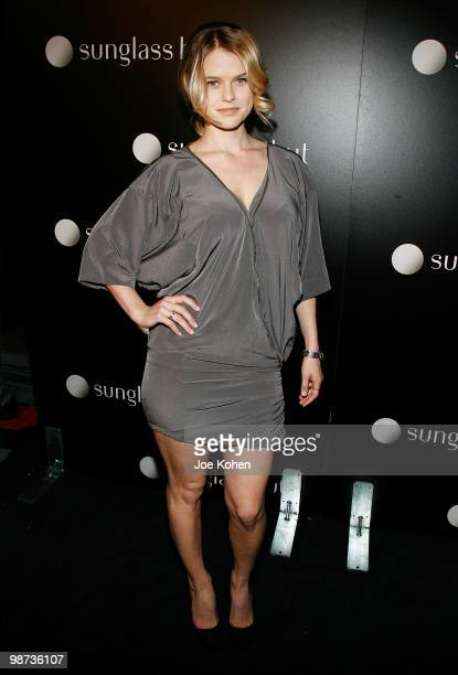 Actress Alice Eve attends the Flagship Opening celebration on New York's Famed Fifth Avenue at Sunglass Hut on April 28 2010 in New York City