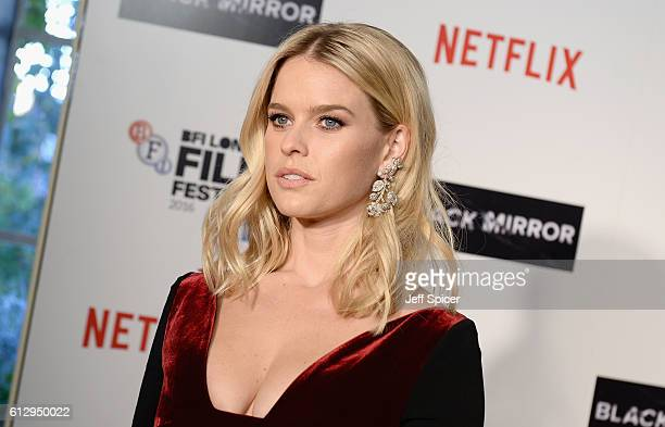 Actress Alice Eve attends the LFF Connects Television: 'Black Mirror' screening during the 60th BFI London Film Festival at Chelsea Cinema on October...