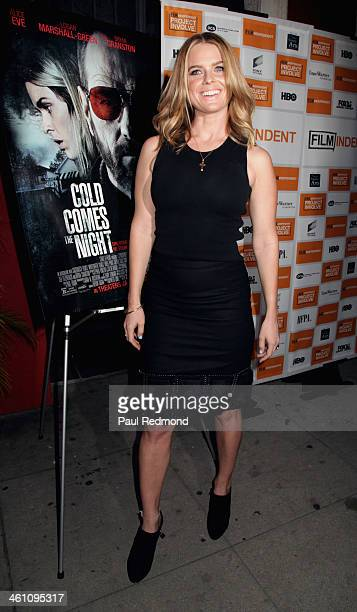 Actress Alice Eve attends the Los Angeles premiere of 'Cold Comes The Night' at the Vista Theatre on January 6 2014 in Los Angeles California