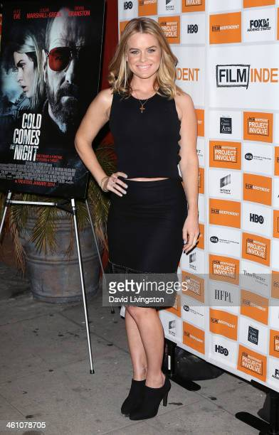 Actress Alice Eve attends the Los Angeles special screening of Cold Comes the Night at the Vista Theatre on January 6 2014 in Los Angeles California