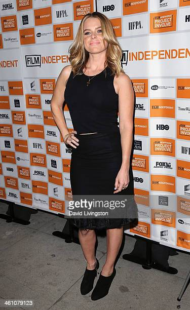 Actress Alice Eve attends the Los Angeles special screening of 'Cold Comes the Night' at the Vista Theatre on January 6 2014 in Los Angeles California
