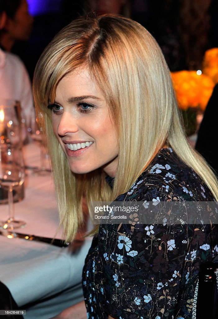 Actress Alice Eve attends the Mulberry Autumn Winter '13 celebration dinner at Chateau Marmont on March 21, 2013 in Los Angeles, California.