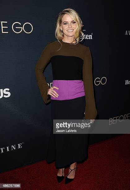 Actress Alice Eve attends the premiere of 'Before We Go' at ArcLight Cinemas on September 2 2015 in Hollywood California