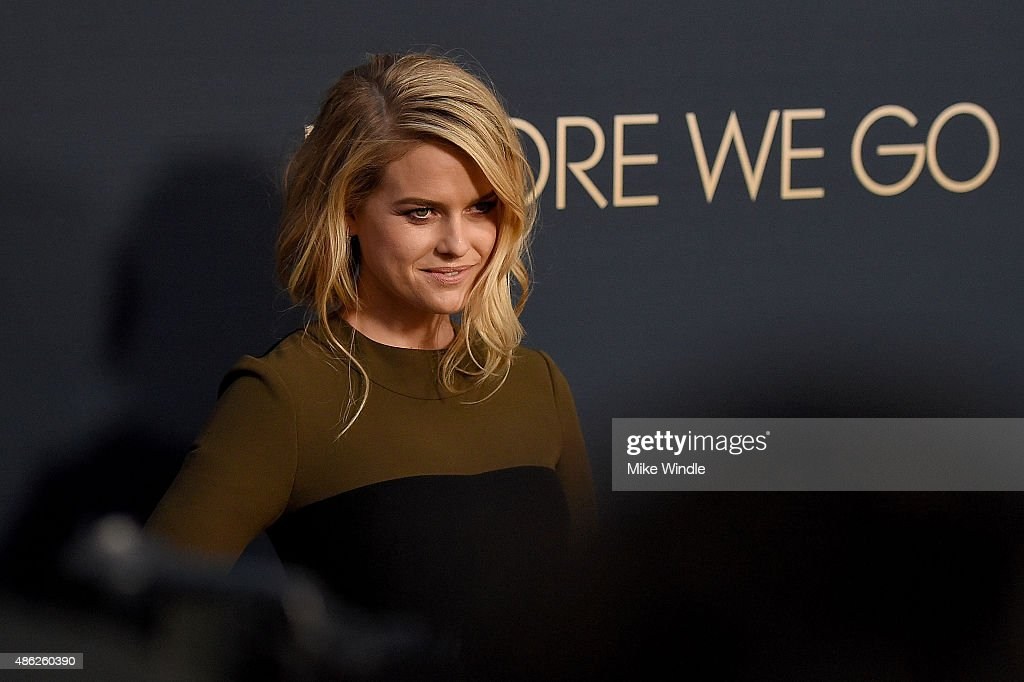 Actress Alice Eve attends the premiere of