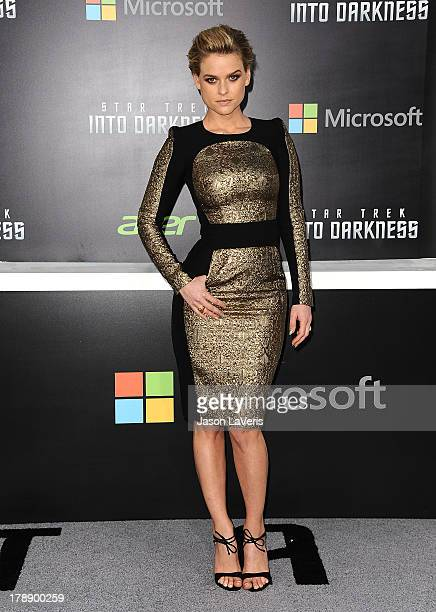 Actress Alice Eve attends the premiere of 'Star Trek Into Darkness' at Dolby Theatre on May 14 2013 in Hollywood California