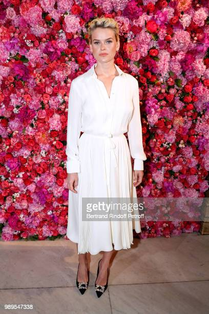 Actress Alice Eve attends the Schiaparelli Haute Couture Fall Winter 2018/2019 Photocall as part of Paris Fashion Week on July 2 2018 in Paris France