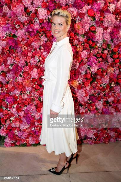 Actress Alice Eve attends the Schiaparelli Haute Couture Fall Winter 2018/2019 Photocall as part of Paris Fashion Week on July 2, 2018 in Paris,...