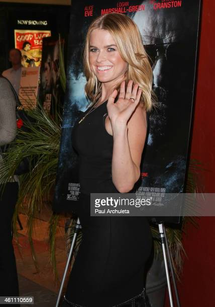 Actress Alice Eve attends the screening of Cold Comes The Night at the Vista Theatre on January 6 2014 in Los Angeles California