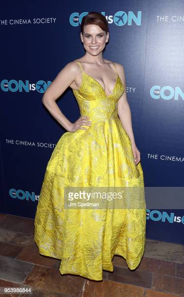 Actress Alice Eve attends the screening of 'The Con Is On' hosted by The Cinema Society at The Roxy Cinema on May 2 2018 in New York City