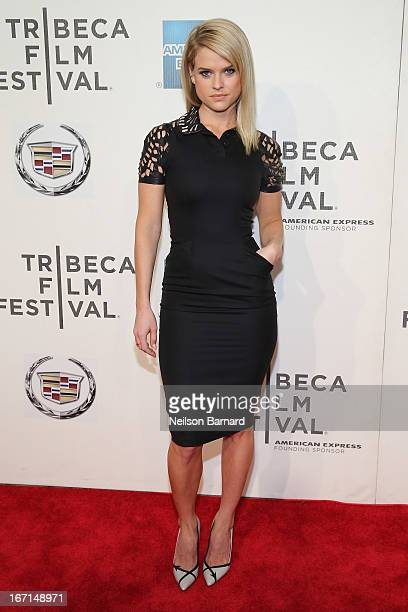 Actress Alice Eve attends the Some Velvet Morning World Premiere during the 2013 Tribeca Film Festival on April 21 2013 in New York City