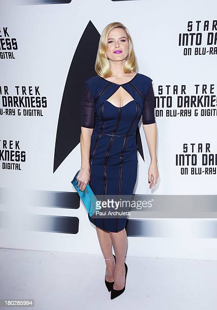 Actress Alice Eve attends the Star Trek Into Darkness Bluray/DVD release party at the California Science Center on September 10 2013 in Los Angeles...