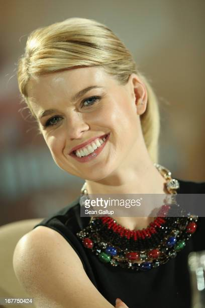 Actress Alice Eve attends the 'Star Trek Into Darkness' Press Conference at Hotel Adlon on April 29, 2013 in Berlin, Germany.