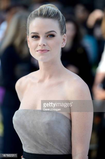 Actress Alice Eve attends the 'Star Trek Into Darkness' UK Premiere at the Empire Leicester Square on May 2 2013 in London England
