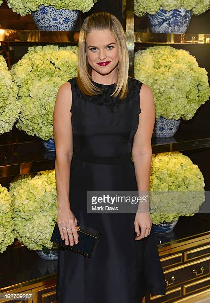 Actress Alice Eve attends the Tory Burch Rodeo Drive Flagship Opening at Tory Burch on January 14 2014 in Beverly Hills California