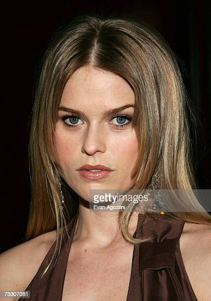 """Actress Alice Eve attends Warner Bros. Pictures' premiere of """"Music and Lyrics"""" at the Ziegfeld Theatre February 12, 2007 in New York City."""