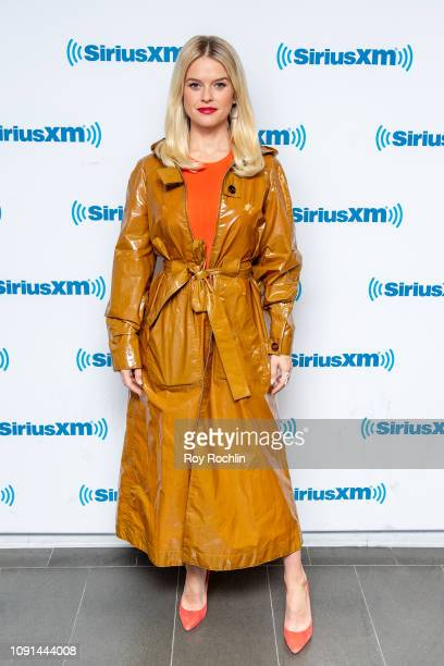Actress Alice Eve discusses Replicas as she visits Stand UP with Pete Dominick on the Insight channel at SiriusXM Studios on January 08 2019 in New...