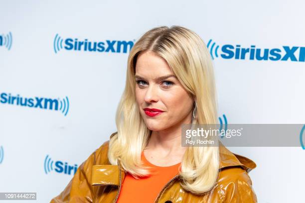 """Actress Alice Eve discusses """"Replicas"""" as she visits """"Stand UP! with Pete Dominick"""" on the Insight channel at SiriusXM Studios on January 08, 2019 in..."""