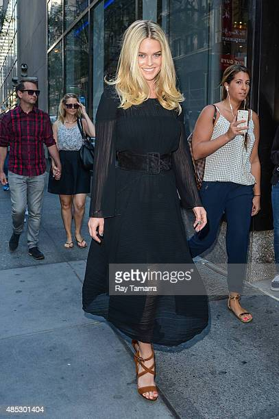 Actress Alice Eve enters the 'Today Show' taping at the NBC Rockefeller Center Studios on August 26 2015 in New York City