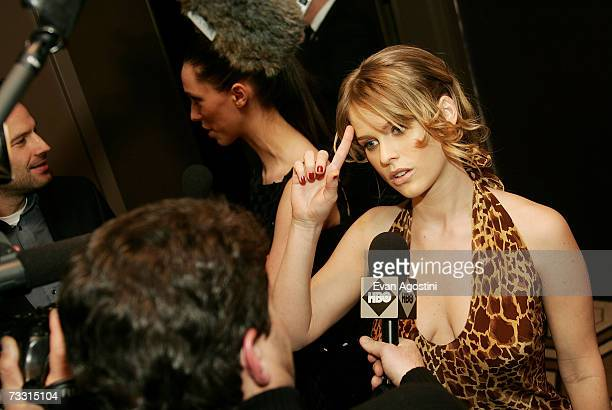 Actress Alice Eve is interviewed at a special screening of Starter For Ten at the Tribeca Grand Screening Room February 13, 2007 in New York City.