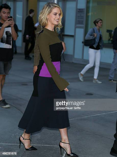 Actress Alice Eve is seen attending the premiere of 'Before We Go' at ArcLight Cinemas on September 02, 2015 in Los Angeles, California.