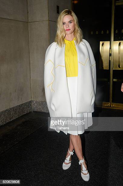 Actress Alice Eve leaves the Today Show taping at the NBC Rockefeller Center Studios on April 12 2016 in New York City