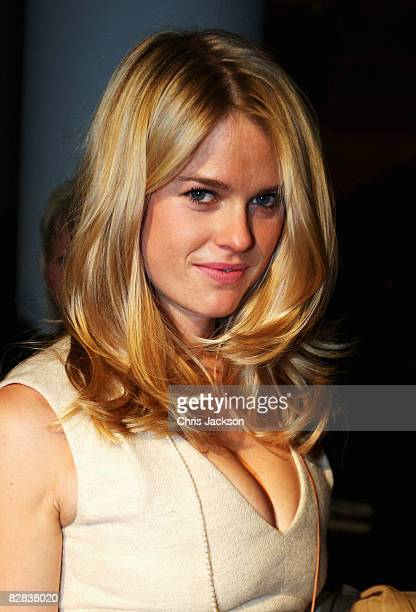 Actress Alice Eve poses for photographs at the Science Museum before the Aquascutum LFW Spring / Summer 2009 show at London Fashion Week 2008 on...