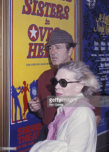 Actress Alice Faye and actor John Payne attend the rehearsals for 28th Annual Tony Awards on April 21 1974 at the Shubert Theater in New York City