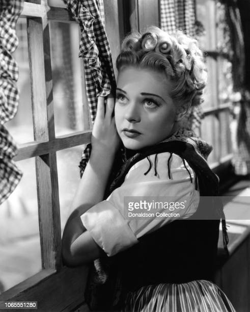 Actress Alice Faye in a scene from the movie Little Old New York