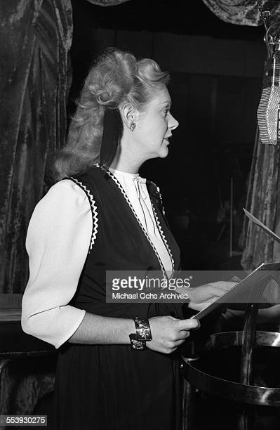 Actress Alice Faye on set in Los Angeles California