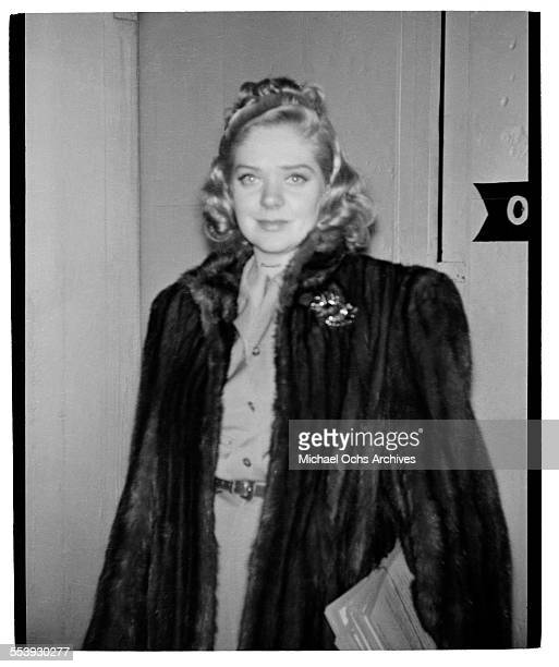 Actress Alice Faye poses for a picture in Los Angeles California