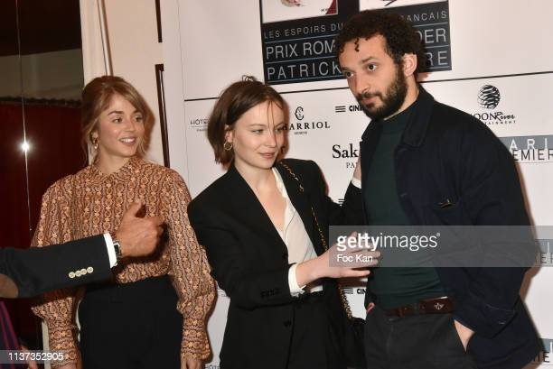 Actress Alice Isaaz actor William Lebghil and actress Diane Rouxel attend the 37th 'Romy Schneider And Patrick Dewaere Awards' Nominee Luncheon At...