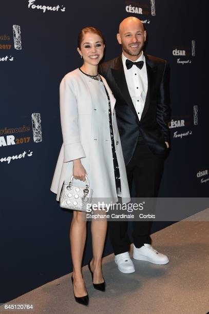 Actress Alice Isaaz and Franck Gastambide attend the Cesar's Dinner at Le Fouquet's on February 24 2017 in Paris France