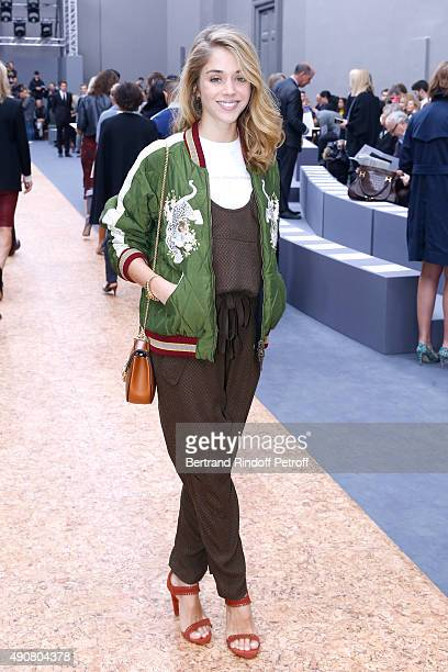 Actress Alice Isaaz attends the Chloe show as part of the Paris Fashion Week Womenswear Spring/Summer 2016 Held at Grand Palais on October 1 2015 in...