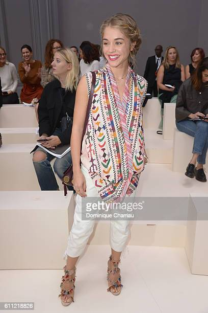 Actress Alice Isaaz attends the Chloe show as part of the Paris Fashion Week Womenswear Spring/Summer 2017 on September 29 2016 in Paris France